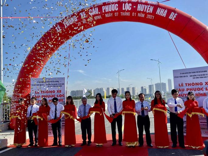 Cầu Phước Lộc, huyện Nhà Bè chính thức thông xe 07.01.2021, sau 8 năm chờ đợi.